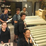 Rocket teamers with their freshly made fiberglass tubes!